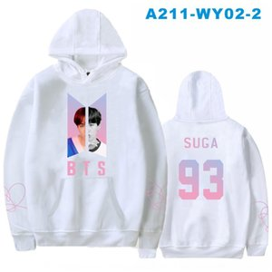 Hot salebulletproof youth group cover 93 SUGA men's and women's fleece hooded sweater Sweater album album album