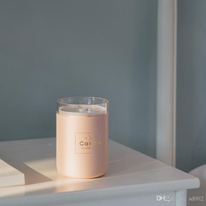 Candle rhyme humidifier candle air purifier USB humidifier spray light home decoration cross border source C1