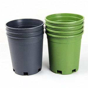 Plastic Round Succulents Pots Flowers Cultivate Bottom Breathable Flower Pot Flower Planter Home Succulents Breed Garden Pots Free shipping
