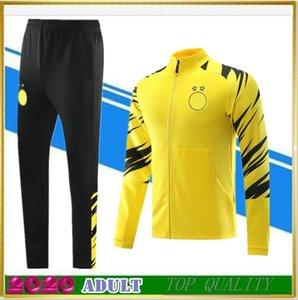 2020-21 Borussia Dortmund veste de costume d'entraînement de football survêtement à manches longues 20 21 Survetement REUS M.GOTZE kits de veste de football sportswear
