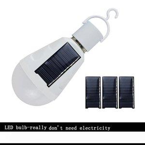 Sunlamp Solar Light E27 Base LED Birne mit Paneelen Power 7w 12w Beleuchtung Laterne Outdoor Lights Gartenlampe Camping