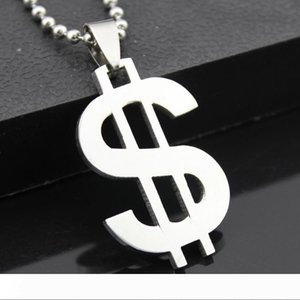 """With 18"""" Leather Chain Hip Hop Jewelry US Dollar Money Pendant Necklaces Luxury Gold Color Chain Jewelry Women Accessories Necklace"""