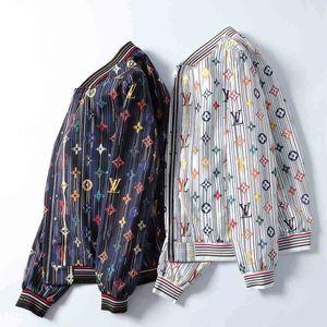 2020 Paris Luxury New Products Trend Black White Men's Jacket Letter Print Slim Fit Long Sleeve Designer Medusa Jacket Loose Stand Collar Ca