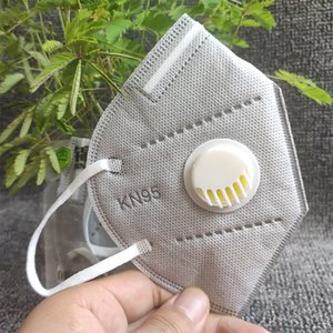 Envío libre KN95 máscara de filtro Mascarillas Válvula KN95 de la mascarilla de filtro desechable cubierta de la cara de la boca con la válvula Kn95 máscaras de algodón