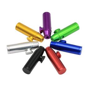 Aluminium métal Bullet Rocket en forme Snuff Ronfler Sniff Distributeur nasal Endurable pour le tabac Outils de tuyaux de cigarettes