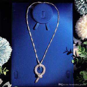 circular de la tapa del collar de la serpiente de la joyería de alta calidad para el collar collar de la mujer serpiente colgantes grueso fino personalizado joyería de lujo AAA circón