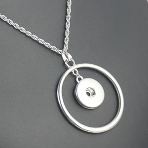 Newest Snap Button Pendant Necklace Ne202 Fit 18mm 20mm Snaps Ginger Snap Buttons Necklace DIY Accessories Statement Jewelry