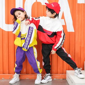 New arrival Hip-hop clothing set for teenagers boys fashion streetwear dance clothes girls tracksuit autumn children sport suits