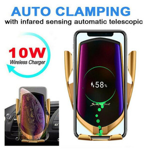 Automatic clamping Infrared Car wireless charger Phone Holder 10W Car fast wireless Charger for IPhone 11 Pro Max XS Samsung S10 S20