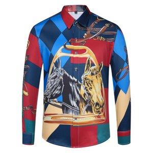 Оксфорд хлопка рубашки поло топ дизайнер и досуг Бизнес рубашки 6Men длинный рукав Brand New Mens рубашки платья плюс размер-1