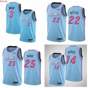 Hot Dwyane Wade MiamiHeatMen 2019 20 MIA Edition Swingman Jersey Blue Basketball Jerseys
