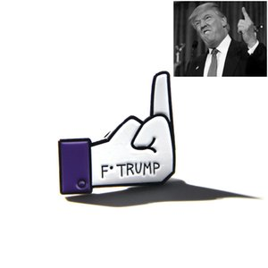 Trump Cartoon Finger Brooches Pins For Jacket Shirt Collar Lapel Pin Badge Gift Jewelry accessory HH9-2490