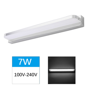 LED mirror light 42cm 7W 90V-265V waterproof modern makeup acrylic wall light bathroom light