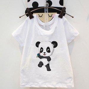2020 Унисекс Симпатичный белый Летние Мальчики Tshirt Мультфильм Painter Panda питание Бамбуковые Дети Одежда Vogue Baby T Shirt Girls Tshirt