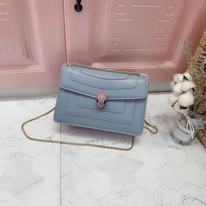 2019 New Star with the same style Willow nail snake small square head small square bag multi-layer single shoulder Cross women's bag
