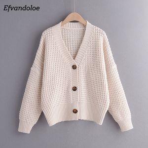 Efvandoloe осень кардиган свитер женщины зимняя одежда Кардиган вязаная осень 2019 свитера T200724