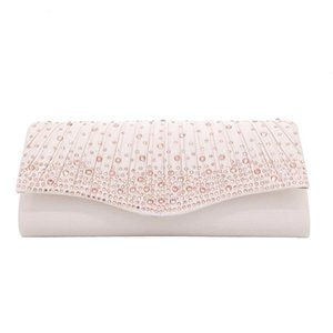 white Women Wedding Purse Rhinestone Evening Party Clutch Bag Elegant Handbag Prom Bolsa Feminina pink Clutch Female 2019 New