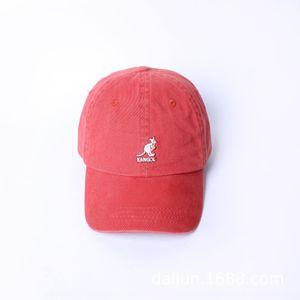 la parte superior de béisbol 9JRUw Kangol canguro de lavado de punta blanda gorra de béisbol sombrero de moda pequeño bordado simples complementos de las mujeres de los mejores hombres y alcanzó su punto máximo c