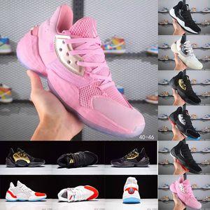Newest Star James Harden Vol.4 Lightsaber BHM Basketball Shoes for Mens Pink Lemonade Barbershop 4 Vol4 Mens Sports Sneakers Size 7-12