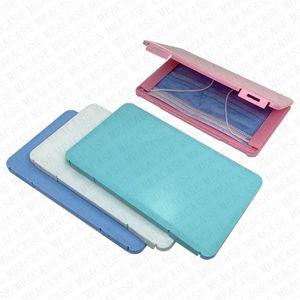 A prueba de polvo máscara de rendija caja portátil mascarillas desechables Face envase seguro libre de contaminación desechables Máscara de almacenamiento Caja de almacenamiento Organizador D72204