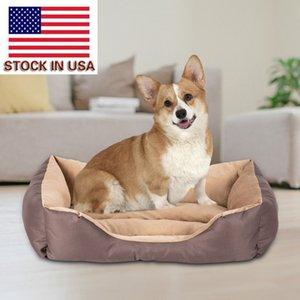 cama pet portátil mat pet camas do cão casa canil gato cama maca fácil almofada de algodão quadrado pet sujeira resistente com curta praça de pelúcia