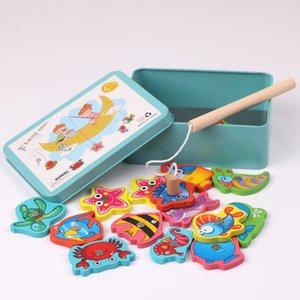 15pcs Magnetic Educational Angeln Puzzle Holzspielzeug Tischspiel für Baby-Kind-Geburtstag Weihnachtsgeschenk