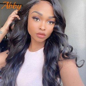 Волна человеческих волос Парики 4x4 Закрытие Парик 150% Плотность Remy ABBY волос парики для женщин черный парик фронта шнурка Human Hair Big Sale