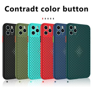 Breathable Cooling Case For iPhone 11 11Pro Max XR XS Max X 8 7 Plus SE 2020 11Pro Soft TPU