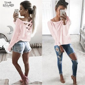 New Women Hollow Out Loose Top Pullover Casual Long Sleeve T Shirt Cotton Tee Tops Drop Shipping