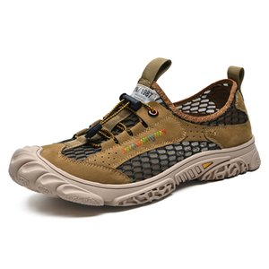 Summer Breathable Men Hiking Shoes Outdoor Men Sneakers Mesh Trekking Shoes Climbing Sport Quick-dry Water Man 38-44