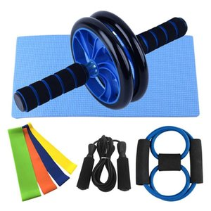 8 In 1 Fitness Kit Abdominal Wheel Ab Roller Workout Kit With Rope Skipping For Home Gym Exercise Fitness Equipment Accessories