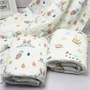 New Baby Blanket Childrens Cotton Knitted Animal Super Soft Blanket Newborn Baby Swaddling uuY1#