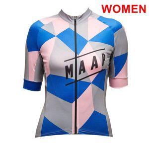 2020 Nouvelle MAAP équipe femmes cyclisme maillot été chemise de vélo de route respirant à manches courtes vélo en tête Y20072901 uniformes de sport
