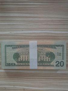 USA BankNote America Fake Billets de banque 20 dollars Billets de banque Collection d'argent pour la décoration de la maison Factures de cadeaux fausse monnaie 05