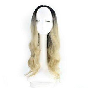 New Hot femmes longs cheveux bouclés A Light Brown perruque Tinge + Net Cap