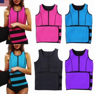 Lady Sauna Thermo Sweat Waist Trainer Vest Body Shaper Tummy Slimmer Belt Corset Body Shaper Waist Cincher Corset 2020