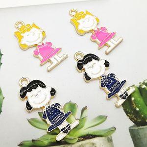 Little girl snoopy series diy oiling snoopy single hanging pendant cute peanut Pendant accessories DIY accessories cartoon New