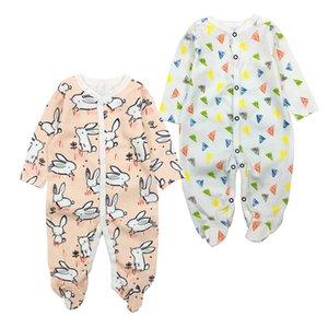 2 Adet / Lot Yenidoğan Bebek Giyim 2020 Erkek Bebek Kız Romper Giyim Uzun Kollu Bebek Ürün Bebeğin Setleri