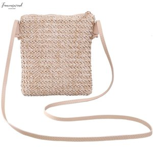 Summer New Japanese And Korean Wind Ins Europe And America Wild Mobile Phone Small Square Bag Solid Color Woven Bag