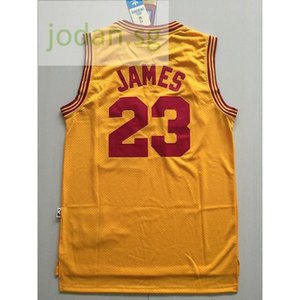 Cheap 556 Basketball Sports Jerseys Sportswear Yellow James #23 S-xxl Top Stitched Jersey