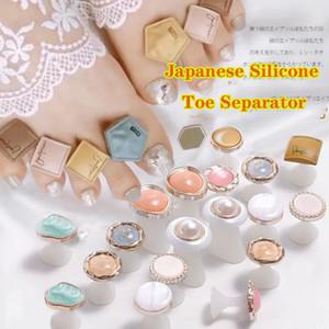 DHL Flower shape pearl marble silicone Cute Nail Tools Toe Nail Silicone Separator Japanese Korean Wind Toe Separator Nail Art Salon
