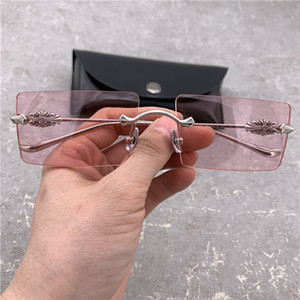 Women Fashion Metal Sunglasses Men Polarized Sunglasses Rimless Glasses Men Driver Sunglasses Brand Driving Sun Glasses with Original Box