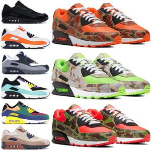 Nouvelle version 1990 de style Chaussures de course inverse 90 LX vert camo orange canard dancecolor Hommes Femmes Chaussures OG V 2020 formateurs 5,5-11