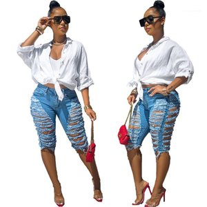 Bleached Middle Waist Skinny Blue Womens Designer Jeans Tassel Ripped Summer Short Denim Pants Big Hole Washed Summer Womens Shorts