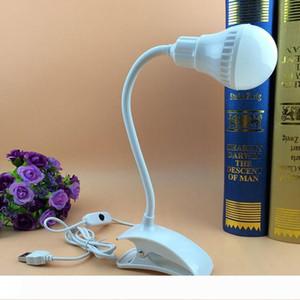 Led Настольные лампы Гибкий USB CLIPPER Клип Защита глаз Чтение Night Light Прикроватная Student Bed Портативный свет книги