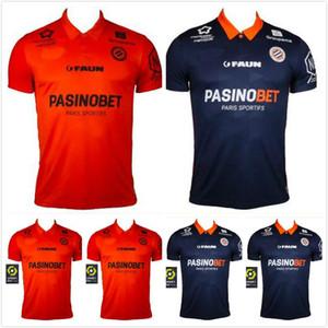 Nuovo 20 21 Montpellier Soccer Jerseys Herault Home Away Arancione 2020 2021 Maillot deley # 11 Savanier Lecomte Laborde DeLort Camicie da calcio