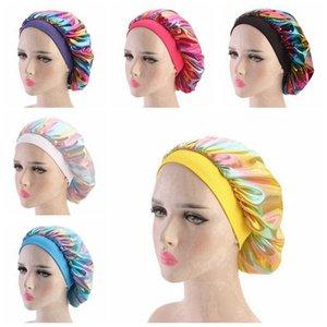 Mulheres muçulmanas larga faixa respirável Bandana noite dormindo Turban Hat Headwrap Cap Chemo Bonnet Acessórios de cabelo Party Supplies RRA3379
