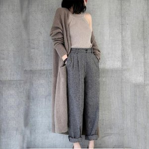 New Fashion Long Cardigan Trench Coat For Women Loose Large Size Spring Autumn cashmere blend cardigan knitted women sweater