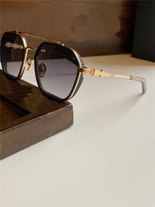 I nuovi uomini retrò popolari occhiali da sole di design HOTATION classico semplice retrò cornice quadrata, rivestito lenti anti-UV riflettente, alto qualit