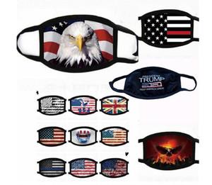 Лицевые маски Trump Американская Избирательные Поставок пылезащитных масок для печати американского флага маски Маски моющегося многоразового Face Хлопок Рот Маска LSK297